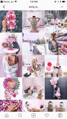 pink instagram feed inspiration