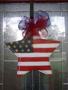 Patriot Star door hanging year round July 4 by samthecrafter, $35.00