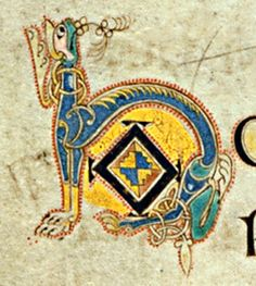 Book of Kells - initial letters H O
