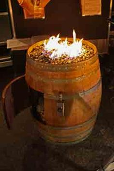 How to build a Wine Barrel Fire Pit Wine Barrel Diy, Wine Barrel Fire Pit, Wine Barrel Chairs, Wine Barrel Furniture, Barrel Bar, Barrel Projects, Diy Wood Projects, Glass Fire Pit, Fire Pits