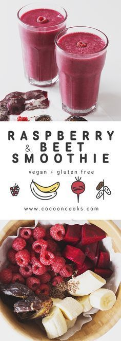 Blow your tastebuds away with this yummy bright pink beet-raspberry-date smoothie!   healthy recipe ideas @xhealthyrecipex  