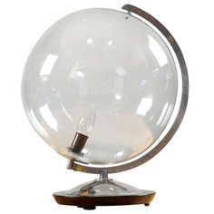 High-end Scandinavian Illuminated Worldglobe By Anvâdos | From a unique collection of antique and modern table lamps at http://www.1stdibs.com/furniture/lighting/table-lamps/