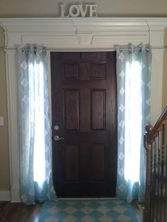 1000 Images About Sidelights Coverings On Pinterest Sidelight Curtains Long Curtain Rods And