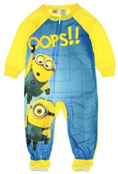 Despicable Me Little Boys Toddler Minion Footed Blanket Sleeper Pajama