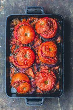 Greek stuft tomatoes