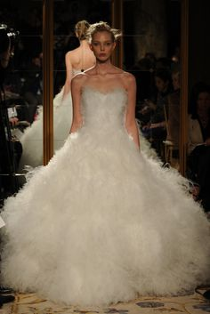 All you need is a glass slipper to complete this gorgeous dress! Magical. -Marchesa RTW Fall 2012