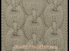 Stricken - Zopfmuster Grevillea - Veronika Hug - YouTube