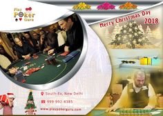 There is a party and there are prizes, so do not miss the fun of poker amalgamated with that of Christmas. If you are looking for a place in Delhi to play poker and also earn a little money from that then you have come to the right place. Feel the thrill of online as well as on the table poker with playpokerguru. Log on towww.playpokerguru.com or contact Saurabh Jain at info@playpokerguru.com or call +91 9999924385 for ongoing live poker.