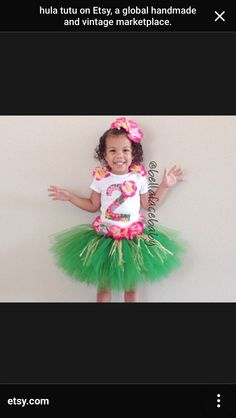 Outfit. Tutu OutfitsBaby OutfitsGirl ...  sc 1 st  Pinterest & Hula Girl Scrap Fabric and Tulle Tutu Outfit by ScrapHappyTutus ...