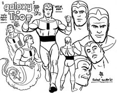 Saturday Morning Cartoon Super-Heroes - The Galaxy Trio