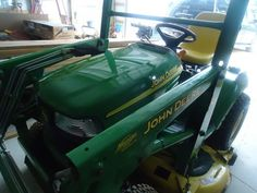 2004 John Deere garden tractor w/ loader This is a one owner garage kept 2004 John Deere garden tractor w/ only 890 hours. Sale includes loader, 54 inch mower deck and 3 point hitch. Powered by Celebrity Psychic, Healer, Tractors, 4x4, Garage, Deck, Canada, Free, Carport Garage
