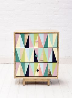 Gorgeous dresser in triangle design.