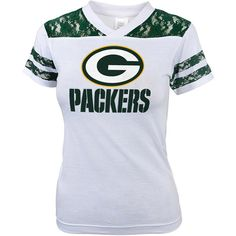 NFL Girls' Greenbay Packers Short Sleeve Tee: Sports Fan Shop : Walmart.com