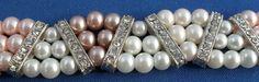 Bracelet OOAK pink mauve white silver Swarovski by ElmsRealm, $20.00