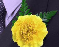 Classic Yellow Carnation Boutonniere $1.99