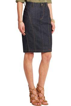 Burberry | Stretch-denim pencil skirt | NET-A-PORTER.COM