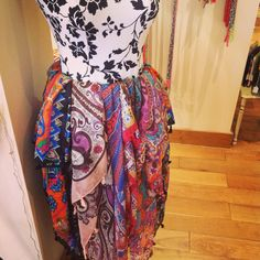These are our new 100% silk scarves that have been proving very popular since we started selling them on Tuesday. We love these and £28.00 we think the price is good too.