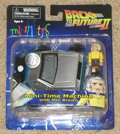 Minimates BACK TO THE FUTURE II Mini-Time Machine with Doc Brown NEW