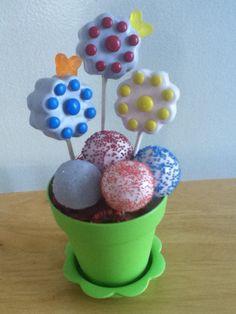 Flower pops arrangement