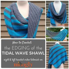 Now you can make the entire Tidal Wave Shawl with Moogly videos - including the edging! On Mooglyblog.com!