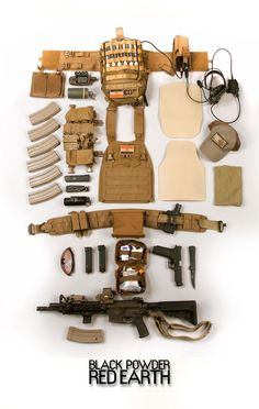 tactical loadout - full chest and belt rig