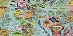 """Fricking Awesome Maps From the Silver Age of #ComicBooks 