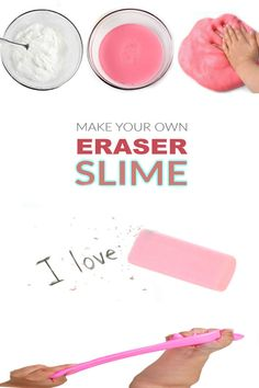 Slime For Kids, Fun Crafts For Kids, Science For Kids, Easy Crafts, How To Make Clay, How To Make Slime, Food To Make, Homemade Slime, Diy Slime
