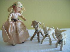 Baps  1950s German Story Book Felt Dolls  Little by TheFickleFlea, $175.00