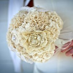 Vintage lace bouquet