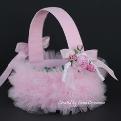 Give Them Something Special With a Personalized Easter Basket Easter Basket Crafts Basket Crafts, Easter Gift Baskets, Tulle Crafts, Diy Ostern, Flower Girl Basket, Hoppy Easter, Basket Decoration, Vintage Easter, Just For You