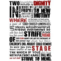 ROMEO and JULIET, Shakespeare quote, Minimalist poster, Shakespeare... ($18) ❤ liked on Polyvore featuring home, home decor, wall art, quote posters, typography poster, shakespeare poster, minimalist posters and quoting shakespeare poster