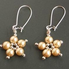 Flower Beaded EarringsFree Diy Jewelry Projects | Learn how to make jewelry - beads.us