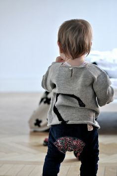 The back of our Cat Sweater #oeufnyc #sweater #kids #baby #alpaca #wool