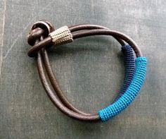 zsazsazsu: Leather, crochet and a knot