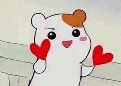 Image about cute in soft memes. by bea& on We Heart It Cartoon Icons, Cartoon Memes, Cute Cartoon, Funny Memes, Memes Lindos, Hamtaro, Heart Meme, Kpop Memes, Cute Love Memes