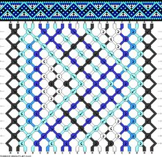 nordic zig zag diamond friendship bracelet pattern - five 5 color DIY