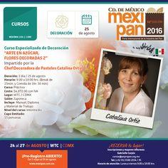 Este es uno de los 4 cursos que la artista y chef decoradora de pasteles, Catalina Ortiz, dará en #Mexipan2016, ¡no te lo puedes perder! Para mayores informes escribe al correo cursos@anpropan.org.mx