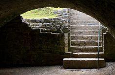 dungeon stairs at Trim castle, Ireland