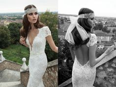New Arrival Berta Bridal Couture 2014 Slim Court Train Cap Sleeve V-Neck Baceless Ivory Lace Wedding Dress With Peals Backless Lace Wedding Dress, Buy Wedding Dress, V Neck Wedding Dress, Lace Mermaid Wedding Dress, Wedding Dress Sizes, Mermaid Gown, Bridal Dresses, Wedding Gowns, Wedding Hair