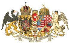 Austria-Hungary, also known as the Dual Monarchy or K. Monarchy, was a dual-monarchic union state, that existed for 51 years in Central Europe. Hungary History, Kaiser Franz Josef, Grand Prince, Historia Universal, Austrian Empire, Austro Hungarian, Chivalry, Family Crest, Crests