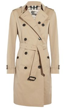 Cotton-Twill Trench Coat