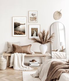 Gallery Wall Inspiration - Shop your Gallery Wall Gallery Wall Bedroom, Bedroom Wall, Bedroom Decor, Modern Gallery Wall, Frame Gallery, Beige Walls Bedroom, Beige Bedrooms, Beige Room, Trendy Bedroom