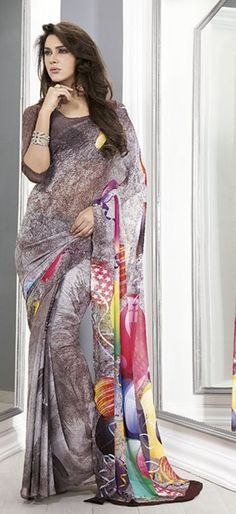 glorious-multicolor-georgette-saree