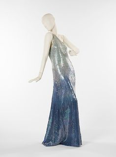 1970, America - Silk evening dress by Halston