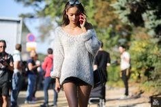 Malaika firth by © Alix de Beer photographer model fashion fashion week louis vuitton streetstyle