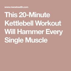 Go all-in on this total-body workout to build booming shoulders, wheels of steel, and shred fat Kettlebell Arm Workout, 20 Minute Hiit Workout, Kettlebell Weights, Kettlebell Training, Card Workout, Weight Bearing Exercises, Short Workouts, Weight Workouts, Flat Belly Workout