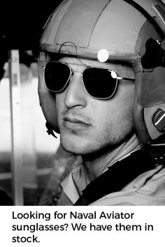 Naval aviator sunglasses have that classic aviator shape. Issued to navy  pilots since Vietnam db2b6fe023c2