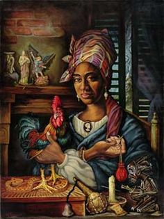 Marie Laveau was the Voodoo Queen of New Orleans. There is a gumbo of legend here, in fact, that she never died, but that her spirit resides in the selected female descendants in Her Secret Society. Laveau's faithful are awaiting her return.