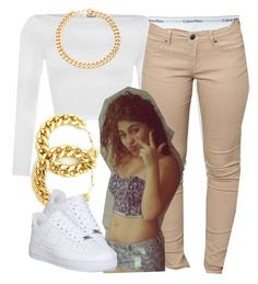 """""""The Trill Dolls Performance (Nautica's outfit)"""" by trillest-queen ❤ liked on Polyvore featuring moda, WearAll, Calvin Klein Underwear, Alessandra Rich i NIKE"""