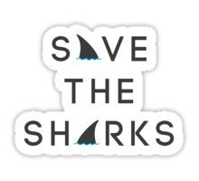 Save the Sharks Sticker